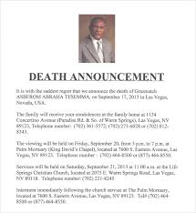 sample death notice 14 documents in pdf psd word