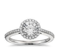 engagement rings with halo classic halo engagement ring in platinum 1 4 ct tw