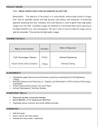 Prepare Resume Freshers Resume Samples For Final Year Engineering Students Resume