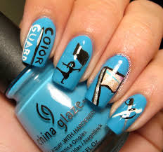 color guard nail art