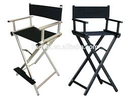 portable makeup chair with side table directors chair metal gold medal commercial director chairs metal