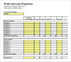 Simple Profit And Loss Excel Template Profit And Loss Template Template