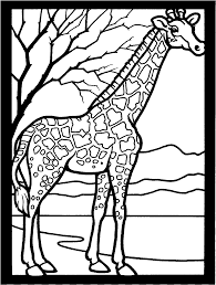 free african giraffe coloring pages animal pages of