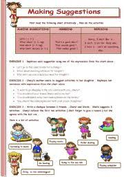 english worksheet making suggestions suggestion2 pinterest