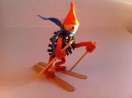 acorn pies pine cone skier ornament