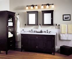 Contemporary Bathroom Storage Cabinets Carving Frame Above Some Darwers Modern Bathroom Cabinets