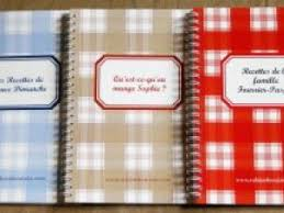 cahier de cuisine vierge le cahier de recettes vierge personnalisable idée cadeau pour les