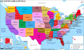 united states map with state names and capitals quiz usa map outline with state capitals and its territories stock map