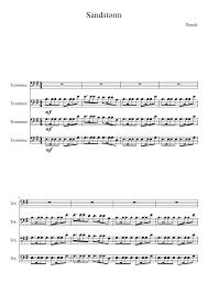 Darude Sandstorm Meme - darude sandstorm on trombones sheet music for brass musescore