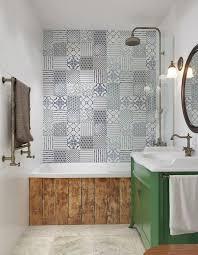 patterned tile bathroom 16 bathroom patterned tile ideas domino