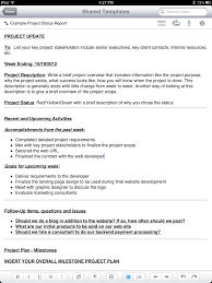 Templates Evernote by New Evernote Project Status Report Template Tabletproductive