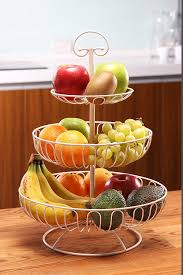 fruit basket amazon com 3 tier decorative display fruit basket white 13