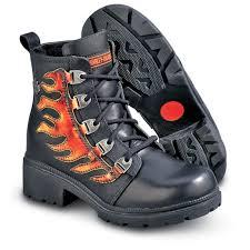 womens black biker boots women u0027s harley davidson sizzle boots black red 101719