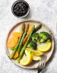 recette cuisine vapeur légumes vapeur et confit d oignons au soja pour 4 personnes