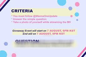 design criteria tmr wanna one update on twitter more details on melon unlimited