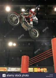 motocross in action toni bou from spain on his beta bike in action over the high jump