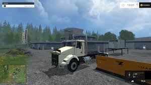 kenworth t800 semi truck kenworth t800 plow truck csi v1 farming simulator modification