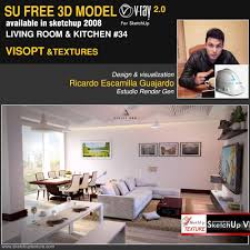 sketchup texture free sketchup model modern living room 34 vray