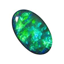 green opal rock big blue black opal stone gem grade oval flashopal