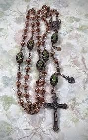 sacred heart rosary sacred heart of polished filigree