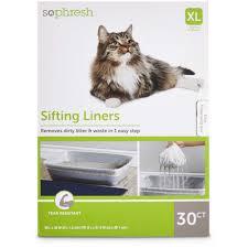 so phresh sifting cat litter box liners petco