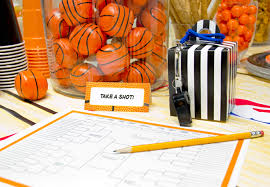 basketball party table decorations march madness party supplies free printable celebrate every day