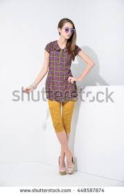 modern dress fashion model modern dress stock photo 224925871