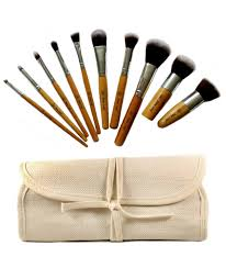 10 piece beaute basics eco friendly makeup brush set mugeek