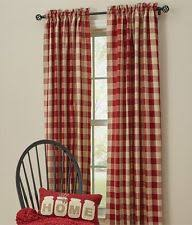 Red And White Buffalo Check Curtains Check Curtains Ebay