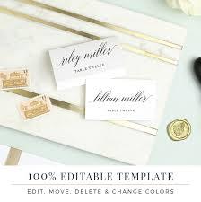 Wedding Invitation Card Template Word Wedding Place Card Template Printable Escort Cards Modern