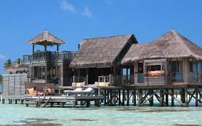 simplywallpapers com mega water bungalow island hotel tropical