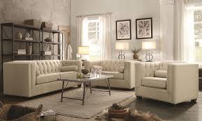 Lumbar Pillows For Sofa by Coaster Cairns Stationary Sofa With Tufted Back And Lumbar Pillows