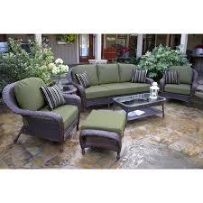 Patio Furniture Conversation Set Tortuga 6 Piece Sofa Set Rocking Furniture