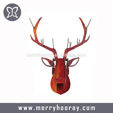 deer head home decor creative 3d craft animal head wall hangers deer head wood crafts