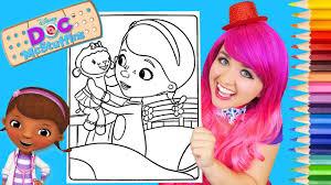 coloring doc mcstuffins u0026 lambie coloring book page prismacolor