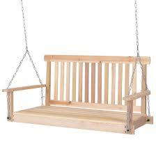 4 u0027 wood garden hanging seat chains porch swing porch swings
