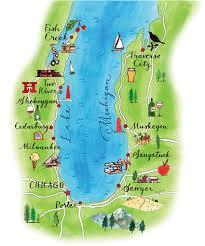 Warren Dunes State Park Map by Big Blue Easy Chicago Magazine