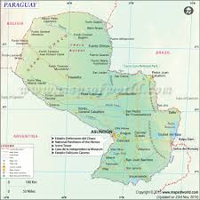 Middle And South America Map by Paraguay Map Map Of Paraguay