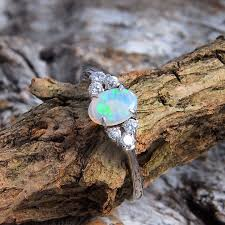 opal rings images Silver solid opal ring black star opal jpg