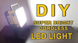 dewalt 20v area light diy super bright led light dewalt 20v powered cordless youtube