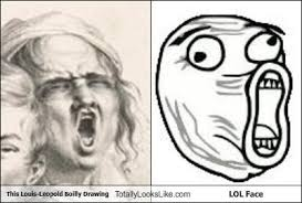 Lol Face Meme - this louis leopold boilly drawing totally looks like lol face