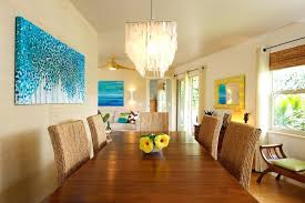 tropical dining room furniture tropical dining room large blue painting with tropical roller blinds