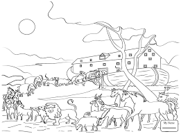 coloring pages kids christianity bible noah ark coloring7