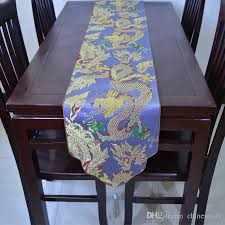 vintage dragon table runner luxury thicken chinese style high