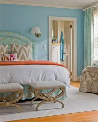 orange and blue bedroom source honey collins sky blue walls paint color blue silk