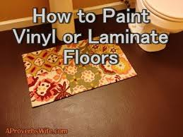 how to paint vinyl or laminate floors a proverbs