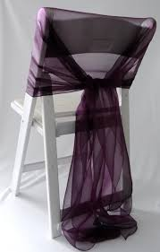 Diy Wedding Chair Covers Lux Diy Folding Chair Covers With Purple Ribbons U2026 Pinteres U2026