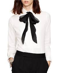 ralph lauren black friday polo ralph lauren cotton poplin tuxedo shirt in white lyst