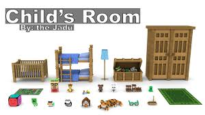 minecraft child u0027s room furniture model pack cinema 4d by the