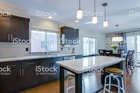 kitchen cabinets open floor plan spacious kitchen with open floor plan stock photo image now